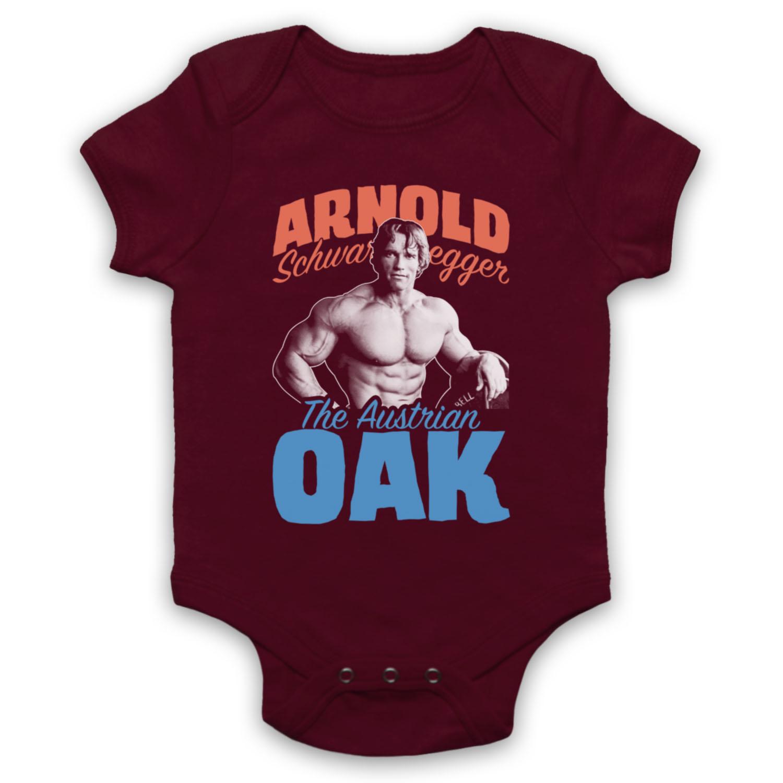 Arnold autrichienne du chêne Officieux Golden Age Arnie Gym Baby Grow Babygrow Cadeau