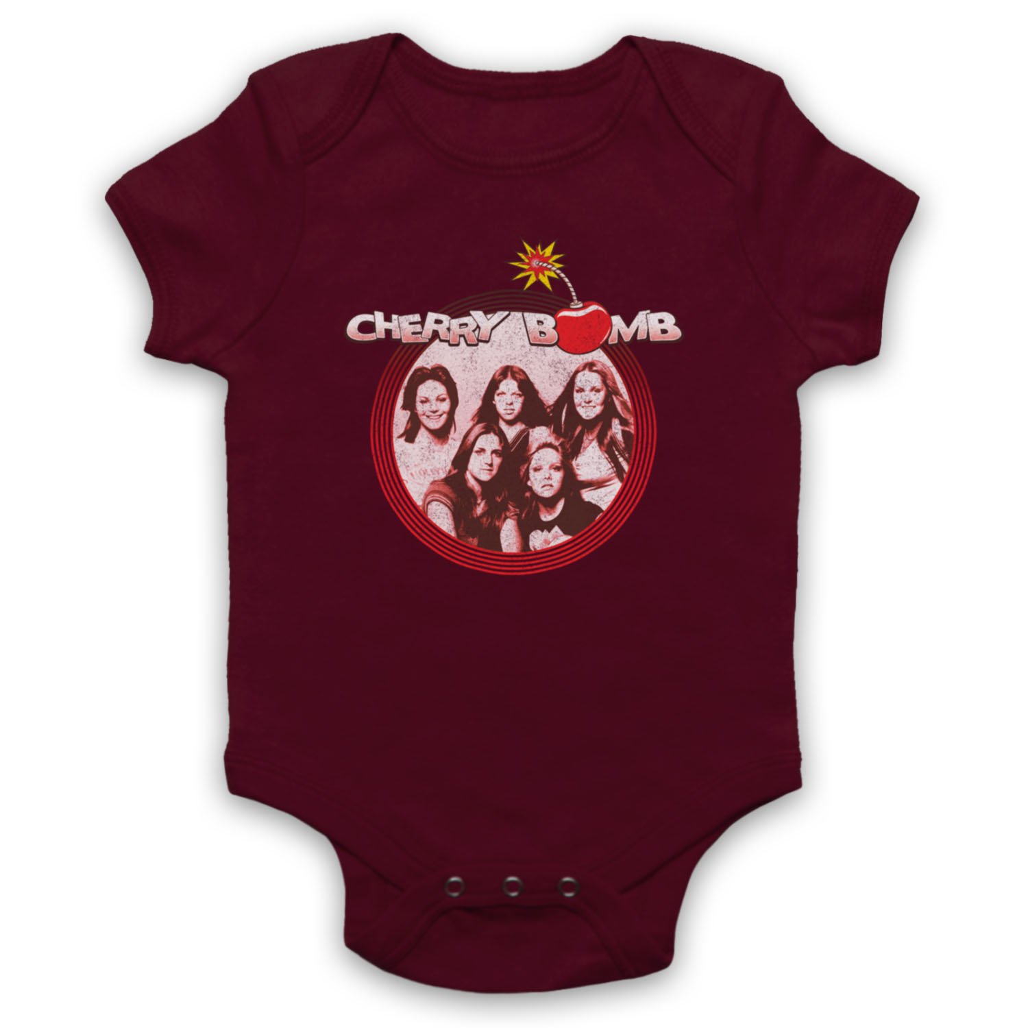 CHERRY BOMB UNOFFICIAL THE RUNAWAYS JOAN JETT ROCK BAND BABY GROW BABYGROW GIFT