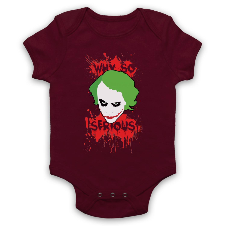 JOKER BATMAN UNOFFICIAL WHY SO SERIOUS COMIC VILLAIN BABY GROW BABYGROW GIFT