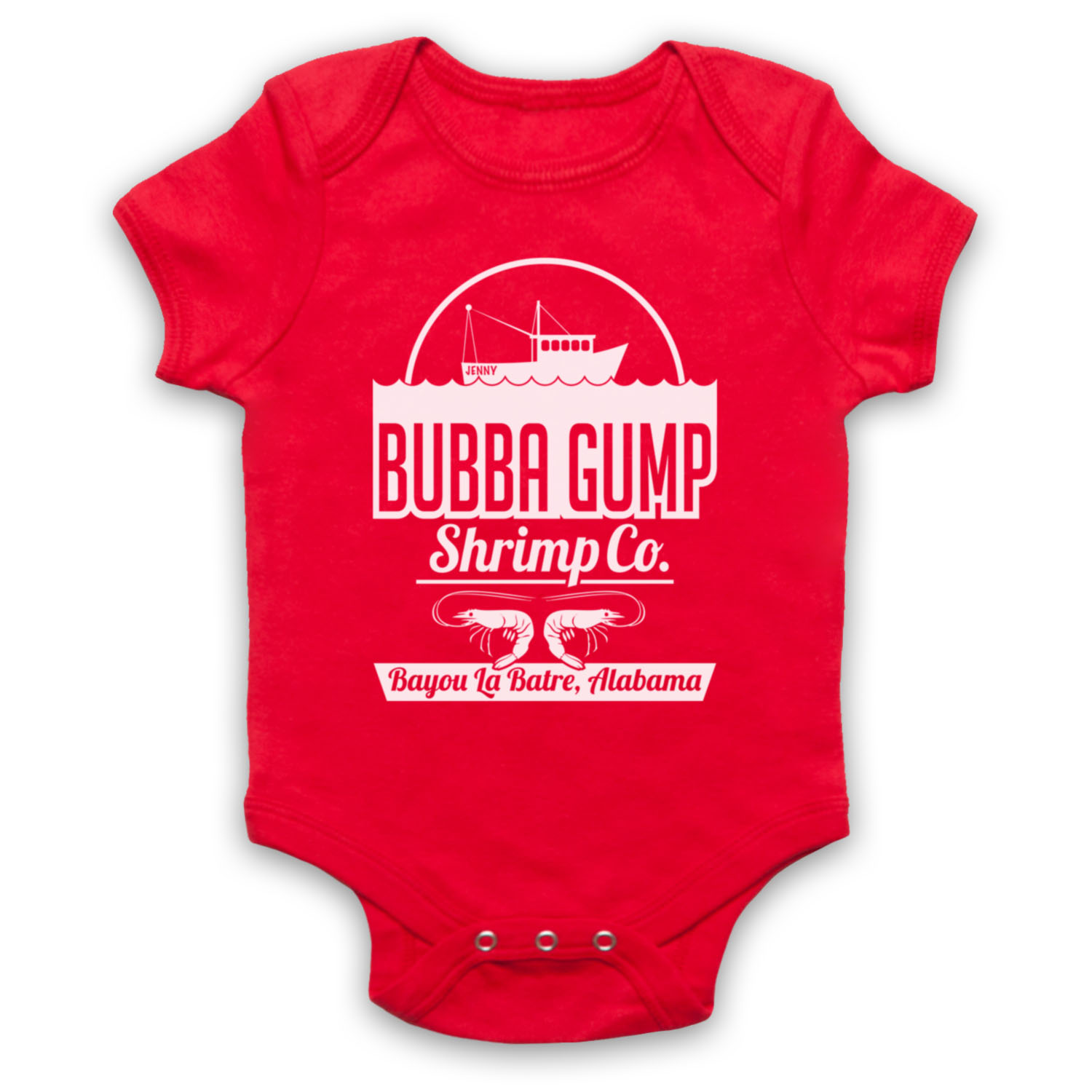 FORREST GUMP UNOFFICIAL BUBBA GUMP SHRIMP CO FOREST BABY GROW