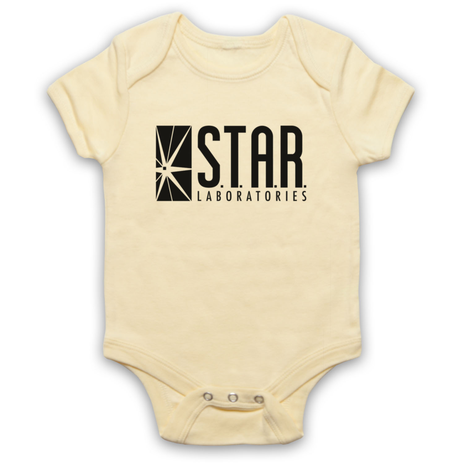Flash Star Unofficial Labs Laboratories Dc Logo Comic Baby Grow