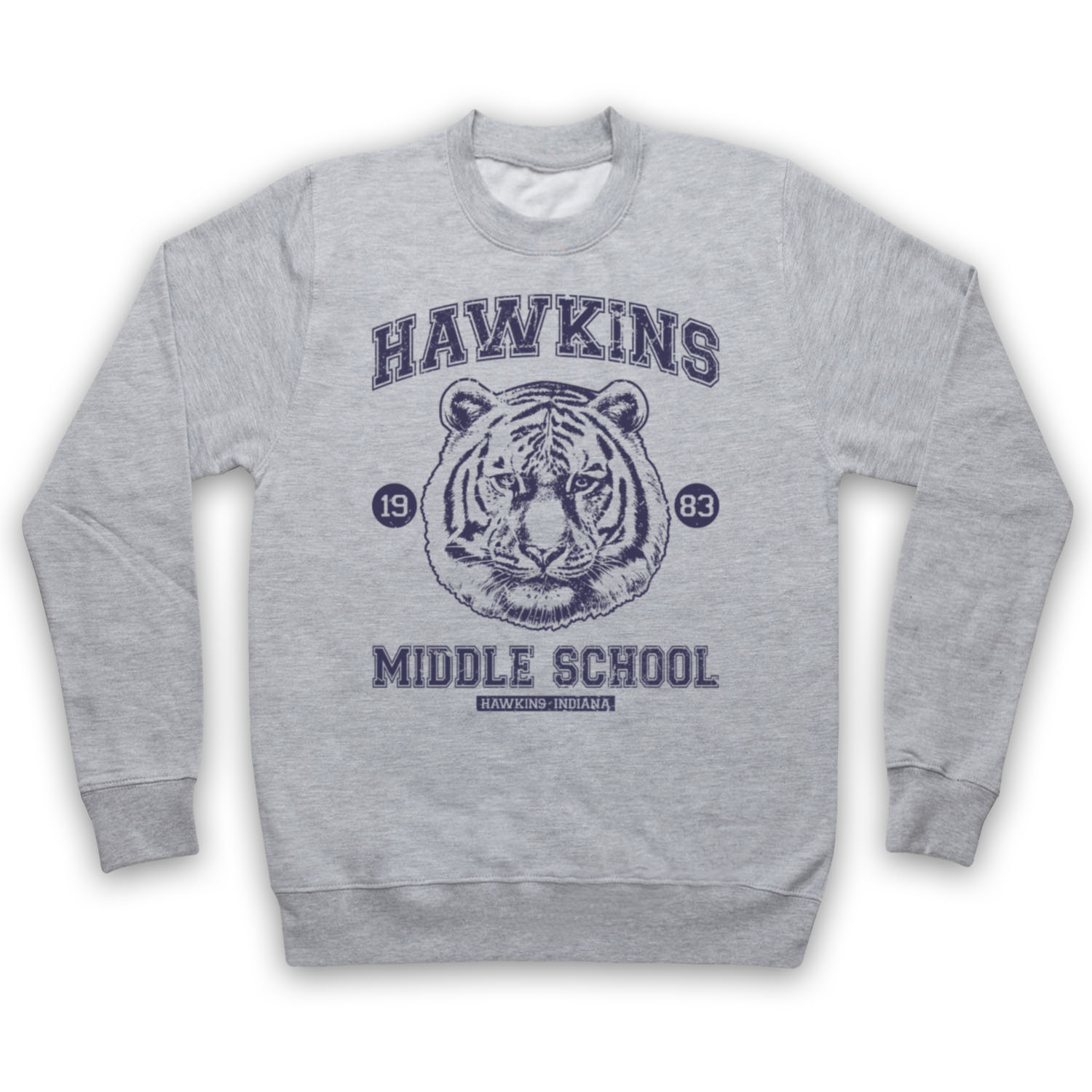 STRANGER THINGS HAWKINS MIDDLE SCHOOL UNOFFICIAL TIGER ADULTS & KIDS SWEATSHIRT